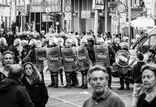 fine art photos of Rome, protest in Rome